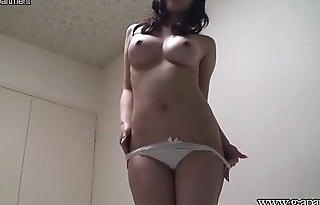 Busty Japanese Girl Aya Sakurai Changes into C-String