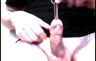 Urethral personate chunky piss hole and urethral fuck penis plug