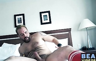 Chubby bears Rob Foster and Sam Black drill each other