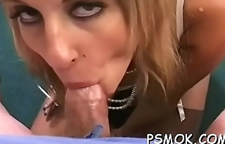 Playing with her wet cum-hole