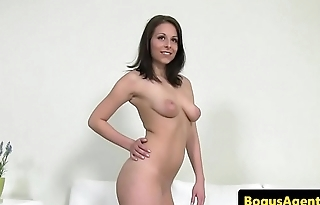 Euro babe shows off body in advance riding cock