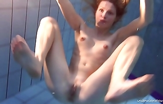 Nastya enjoys being naked in public