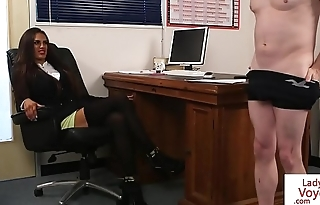 British office babe discreditable sub guy