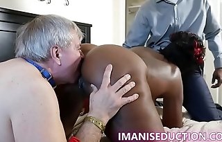 Cuck watches Imani Seduction get DP by Johnathan Jordan XXX, Richard Mann, and Edge.