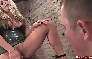 Harmony Rose Sucking Submissive Guy