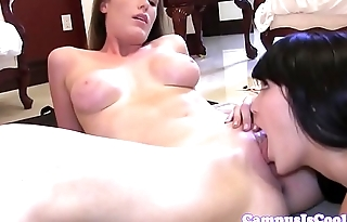 Foursome loving college babes getting fucked