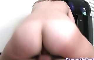 Busty college coeds riding and titfucking