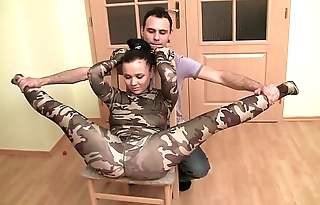 Acrobatic lovemaking for elastic girl fucked by a hard cock