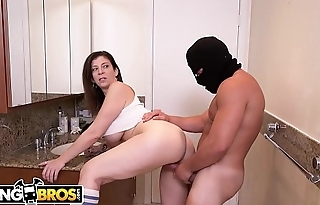 BANGBROS - Big Tits MILF Sara Jay Fucks Thief While Boyfriend Sleeps