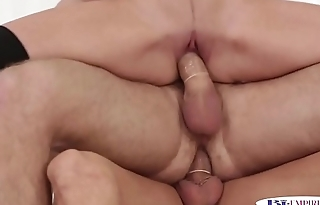 Handsome bi stud assfucking and drilling pussy