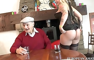 Fucked by a young boy and an old man