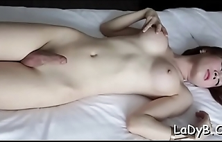Ladyboy enjoys a penis in butt