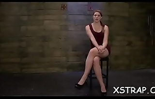 Ropped redhead takes it rough servitude