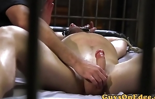 Edged prisoner dominated over by jail guard