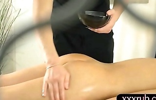 Ariana Jollee pussy boned by her masseur