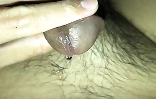 Masturbate using underwear and vibrator