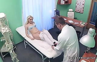 Blonde babe sucks balls everywhere doctor