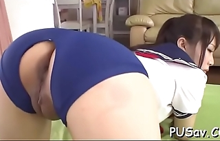 Young playgirl gets wet to vibrators