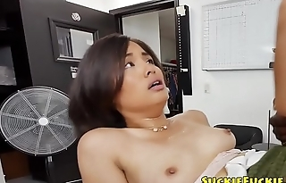 Gorgeous Japanese cosset gets anally banged