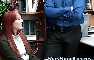 Ginger sucking shoplifter